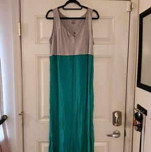 Sleeveless two tone maxi dress, Sonoma